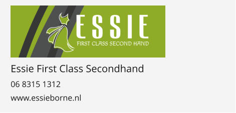 Essie First Class Secondhand 06 8315 1312 www.essieborne.nl